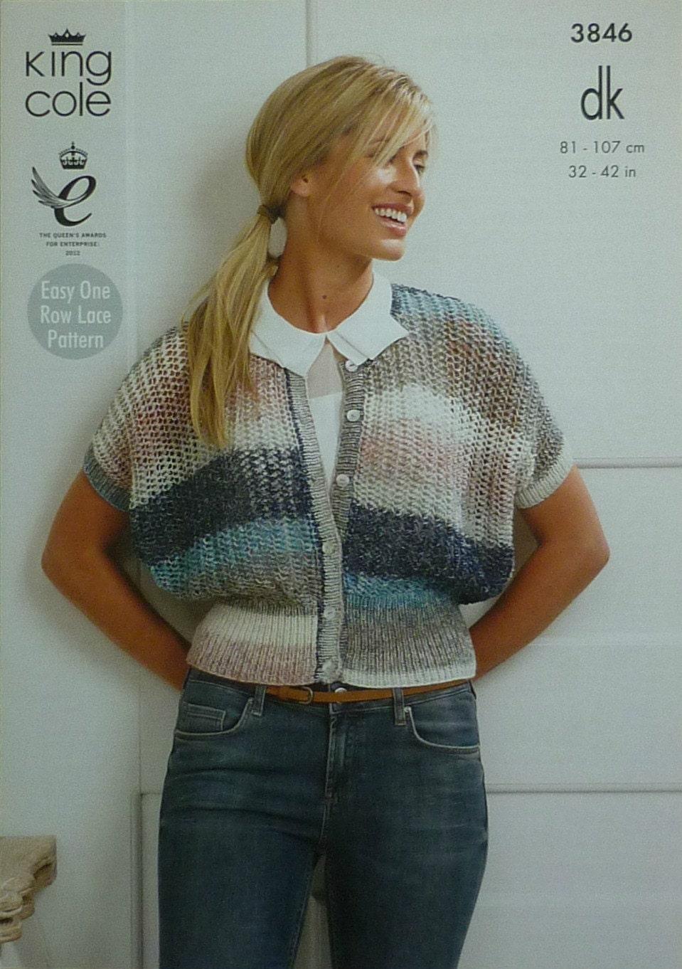 Womens knitting pattern k3846 ladies drop sleeve round neck easy womens knitting pattern k3846 ladies drop sleeve round neck easy lacy cardigan knitting pattern dk light worsted king olec bankloansurffo Image collections