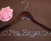 Bridal Hanger with Hearts for your wedding pictures, Personalized custom bridal hanger, brides hanger, Bridal Hanger, Wedding hanger, Bridal