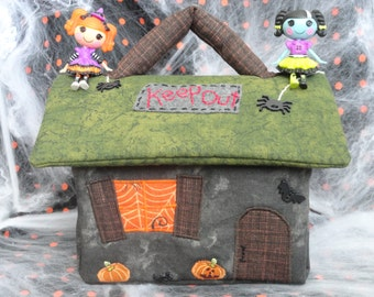 Spooky Haunted Fabric Dollhouse // Made To Order