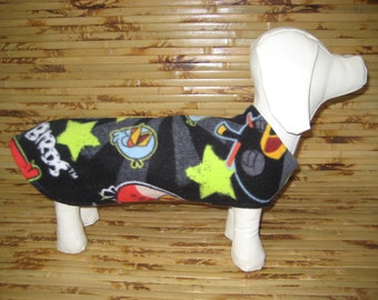 MINI SIZE - Dachshund Wiener Dog Coat / Sweater / Jacket - Reversible