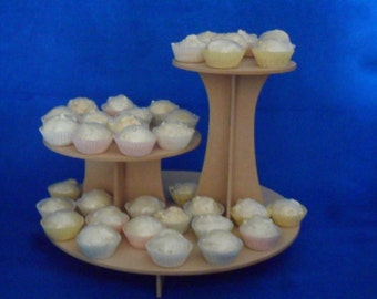 2 Tier Cake Stand or Multi Tier Cupcake Stand MDF DIY