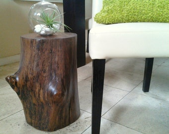 tree stump table reclaimed wood table end table drink table accent table side table. Black Bedroom Furniture Sets. Home Design Ideas
