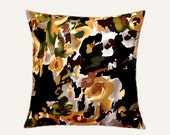 "Decorative Pillow case, Multicolored Abstract Flower Patterned cotton fabric Throw pillow case, fits 18""x 18"" insert, Toss pillow case"