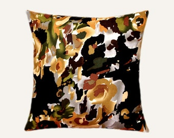 """Decorative Pillow case, Multicolored Abstract Flower Patterned cotton fabric Throw pillow case, fits 18""""x 18"""" insert, Toss pillow case"""
