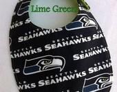 Lime Green Seattle Seahawks Drool Bib