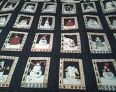 Snow Man throw,Lap Quilt Hand made Quilt