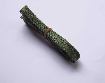 1cm wide Forest Sinamay Bias Bind - 1.2 metres long, ideal for edging or looping