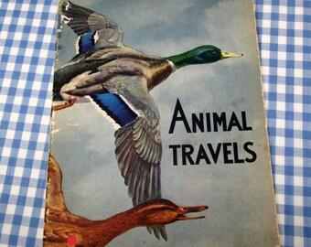 animal travels, vintage 1941 children's book