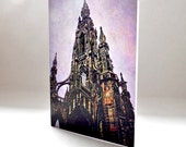 Greetings Card -Scott Monument - Edinburgh - Scotland