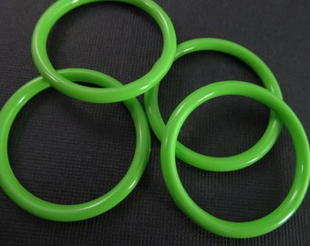 8 Vintage 35mm Bright Lime Green Hoops Con247
