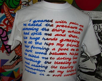 "seditionaries ""i groaned with pain"" punk shirt"