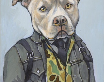 Jake - Matte Print  - Dogs In Clothes by Heather Mattoon