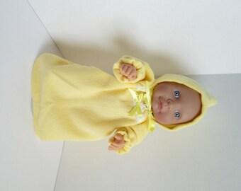 "10-12"" Yellow Bunting and Hood Set"