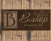 Personalized Family Name Wood Sign, Last Name Sign, Family Established Sign, Personalized Wedding Anniversary Gift
