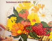NEEDLEPOINT TECHNIQUES and PROJECTS, Sunset Book, 80 pages.  First Printing 1977