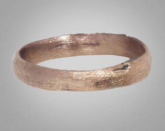 Authentic Ancient Viking  wedding Ring Band  C.866-1067 A.D. Size 9 1/2 (19.8mm)(Brr197)
