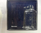 Plain Doctor Who Dish, Doctor Who Soap Dish, TARDIS Spoon Rest, TARDIS Soap Dish, TARDIS Trinket Dish, Personalized Blue Tardis Dish