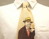 Dick Tracy Linen Necktie