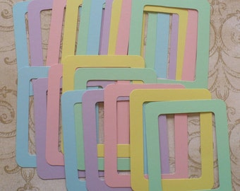 20 pc  Frames Die Cuts Cardstock Pastels  Shapes for crafts Photos cards diy