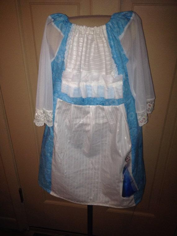 Girls frozen dress Elsa inspired size 8
