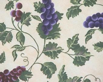 Fabric Grapes Fabric Cotton Fabric Quilting Fabric Light Weight Fabric Home Decor FabricV.I.P. Cranston Print Works Inc.100% Cotton 2.5 Yard