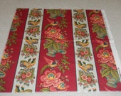 Waverly Colors of Provence Rochelle Red Fabric Swatch, Designer Trade Only Fabric