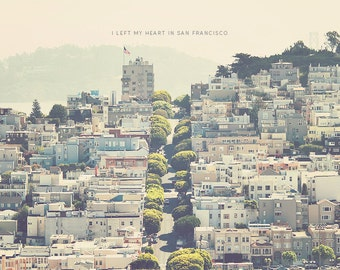 San Francisco Art, San Francisco Photo, San Francisco Print, Typography Print, Wall Art, San Fran Cityscape, Cityscape Photo, Cityscape Art