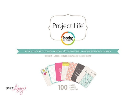Polka Dot Party project life Kit