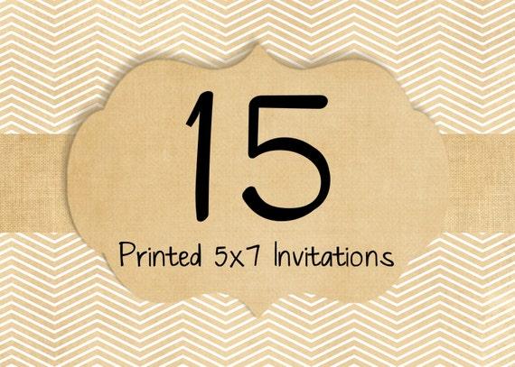 15 Printed Invitations