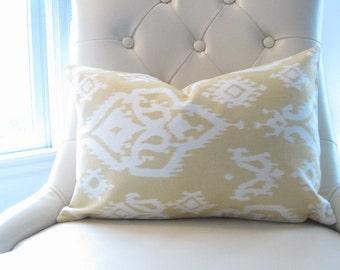 pillow covers, ikat pillows, lumbar, yellow ikat lumbar, yellow chair pillow, 12x18 in decorative pillow, yellow pillow, yellow pillow cover
