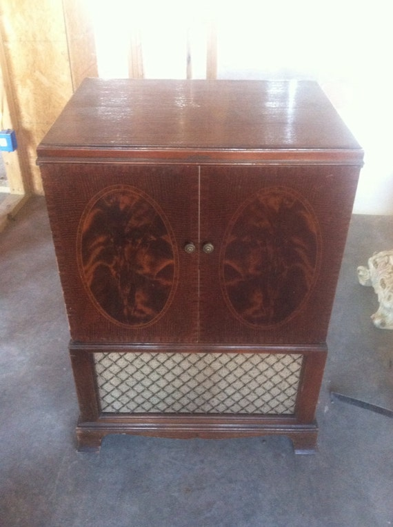Items similar to 1950 RCA Victor tv cabinet repurposed upcycled ...