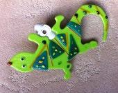 Green Gecko Night Light
