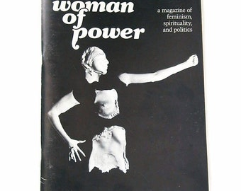 1986 Vintage Woman of Power ISSUE Three WOMAN as Warrior Softcover Magazine Book
