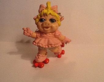 1993 Vintage McDonalds Baby Miss Piggy on Red rollerskates