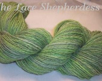 Merino Wool/Alpaca/Silk.  Handspun yarn. 304 yards 3 ply.