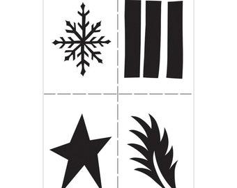 Dyan Reaveley Stencil SHAPES Dylusions 5 x 8