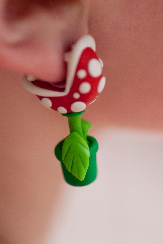 Youch Piranha Plant Earrings Mario