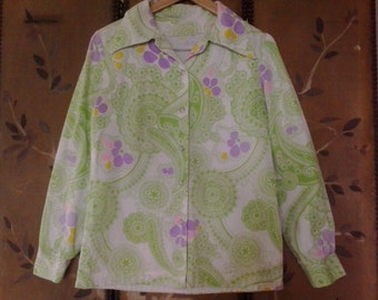 60s psychedelic flower power shirt