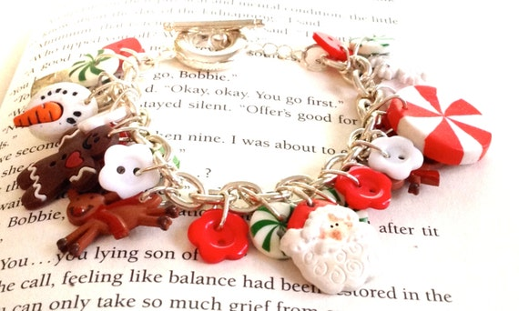 Christmas Everything Button Charm Bracelet