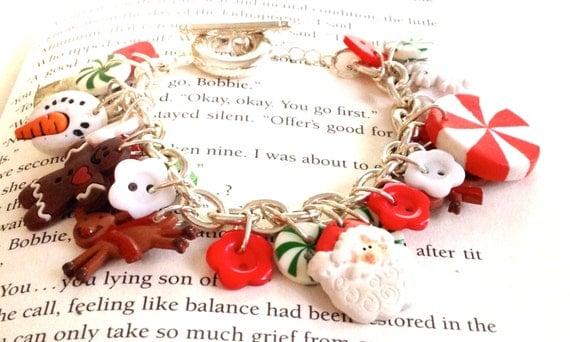 Christmas Everything Button Charm Bracelet