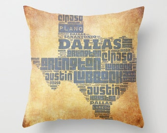 Texas Pillow Etsy