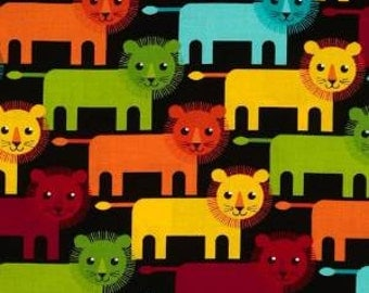 Fat Quarter ONLY - Bright Roar Lions From Robert Kaufman