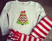 Monogram Christmas Sets with Ruffle Pants - Melissa
