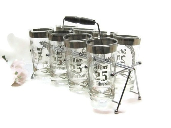 Reserve for Sharon Mid Century Silver Anniversary Cocktail Barware