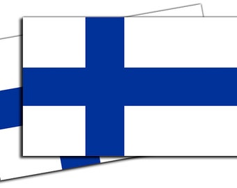 Finland Flag Vinyl Decal Sticker - 2 Pack ED951
