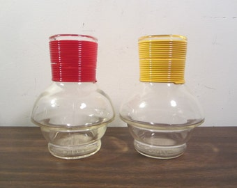 Vintage Hottle GlassBake Water Bottles (Set of Two)