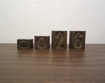 Vintage Solid Brass Printing Blocks (Set of Four)