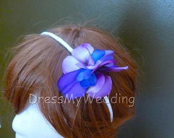Flower girl headband, hydrangea headband, flower headband
