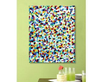 Clearance Sale:  Abstract Original Handpainted Acrylic Thick 3d Texture Impasto Palette Knife Painting. Size 24 x 30