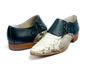 python leather winklepickers derby shoes pointy toe JOE